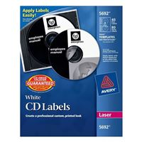 Avery White Laser CD/DVD Label Kit