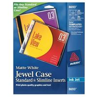 Avery CD/DVD Jewel Case Inserts Pack