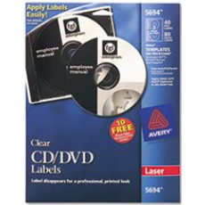 Avery 5694 CD/DVD Laser Labels