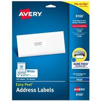 Avery 8160 Ink Jet Address and Shipping Labels