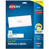 Avery 8161 Ink Jet Address and Shipping Labels