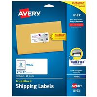 Avery 8163 Ink Jet Address and Shipping Labels
