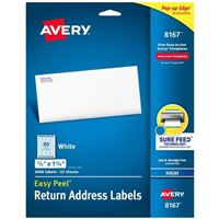 Avery 8167 Return Address and Shipping Labels