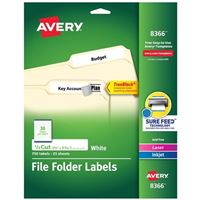 Avery 8366 White Laser/Ink Jet File Folder Labels