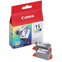 Canon BCI-15 Tri-Color Cartridge 2-Pack
