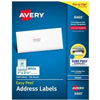 Avery 8460 Ink Jet Address and Shipping Labels