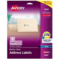 Avery 8660 Ink Jet Address and Shipping Labels