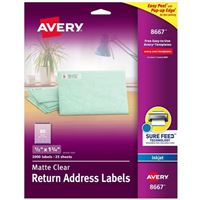 Avery 8667 Ink Jet Address and Shipping Labels