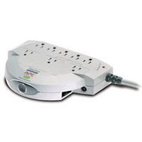 APC 8 Outlet Surge Protector 1120 Joules with Phone/Fax Protection and 6 Foot Cord - Beige