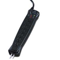 APC 7 Outlet Surge Protector 840 Joules with Phone Protection and 6 Foot Cord - Black