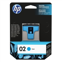 HP HP 02 Cyan Ink Cartridge (C8771WN)