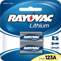 Rayovac Lithium Photo Battery 123A Size