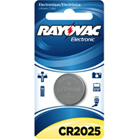 Rayovac CR2025 3.0 Volt Lithium Coin Battery