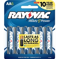 Rayovac Maximum Alkaline AA Batteries 6 Pack