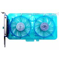 Evercool Vantec Spectrum UV LED Fan Card with Fan Control