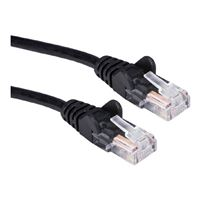 QVS CAT 5e Black Snagless Network Cable 3 Foot