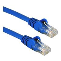 QVS CAT 5e Blue Snagless Network Cable 3 Foot