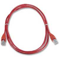 QVS CAT 5e Red Snagless Network Cable 3 Foot