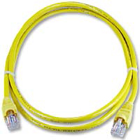 QVS CAT 5e Yellow Snagless Network Cable 3 Foot