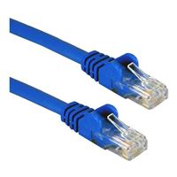 QVS CAT 5e Blue Snagless Network Cable 10 Foot