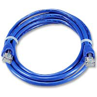 QVS CAT 5e Blue Snagless Network Cable 25 Foot