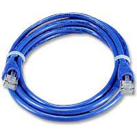 QVS CAT 5e Blue Snagless Network Cable 50 Foot