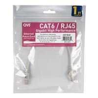 QVS CAT 6 Gray Snagless Network Cable 25 Foot