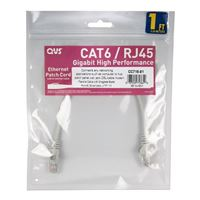 QVS CAT 6 Gray Snagless Network Cable 75 Foot