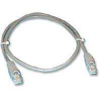 QVS CAT 5e Gray Snagless Network Cable 100 Foot