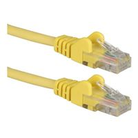 QVS CAT 6 Yellow Snagless Network Cable 3 Foot