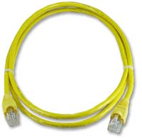 QVS CAT 6 Yellow Snagless Network Cable 10 Foot