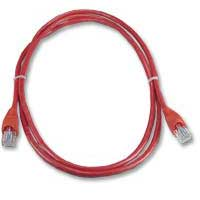 QVS CAT 6 Red Snagless Network Cable 25 Foot