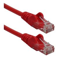 QVS CAT 6 Red Snagless Network Cable 50 Foot