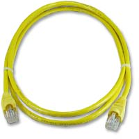 QVS CAT 6 Yellow Snagless Network Cable 50 Foot