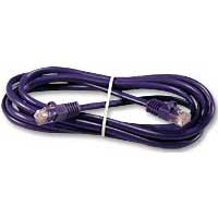 QVS CAT 6 Snagless Network Cable 7 ft. – Purple
