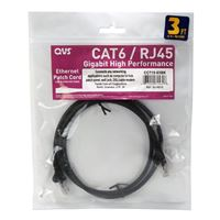 QVS CAT 6 Black Snagless Network Cable 14 Foot