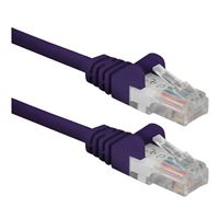 QVS CAT 6 Snagless Network Cable 50 ft. – Purple