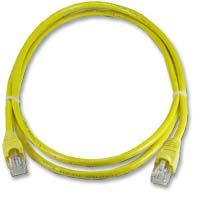 QVS CAT 6 Yellow Snagless Network Cable 14 Foot