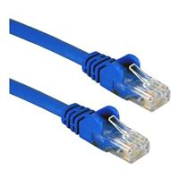 QVS CAT 6 Molded Boots Network Cable 7 ft. - Blue