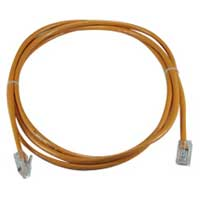 QVS CAT 5e Orange Stranded Network Cable 7 Foot
