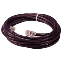 QVS CAT 5e Purple Stranded Network Cable 10 Foot