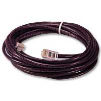 QVS CAT 5e Purple Stranded Network Cable 25 Foot