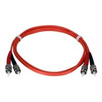 QVS ST to ST Multimode Fiber Duplex Patch Cable 6.6 Foot