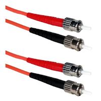 QVS ST to ST Multimode Fiber Duplex Patch Cable 9.8 ft. - Orange