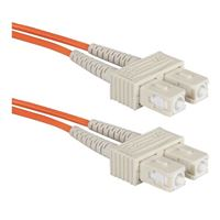 QVS SC to SC Multimode Fiber Duplex Patch Cable 6.6 Foot