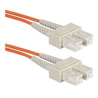 QVS SC to SC Multimode Fiber Duplex Patch Cable 3.3 Foot