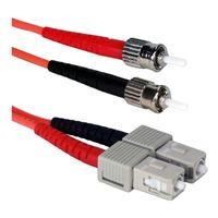 QVS ST to SC Multimode Fiber Duplex Patch Cable 3.3 Foot