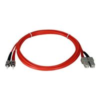 QVS ST to SC Multimode Fiber Duplex Patch Cable 6.6 Foot