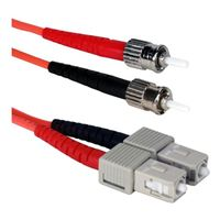 QVS ST to SC Multimode Fiber Duplex Patch Cable 9.8 ft. - Orange