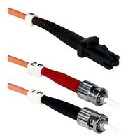 QVS MT-RJ to ST Multimode Fiber Duplex Patch Cable 9.8 Foot